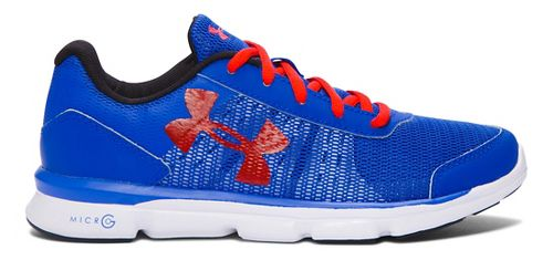Kids Under Armour Micro G Speed Swift Running Shoe - Ultra Blue/Red 4Y