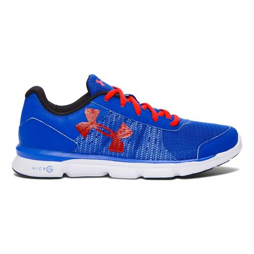 Kids Under Armour Micro G Speed Swift Running Shoe - Ultra Blue/Red 4.5Y