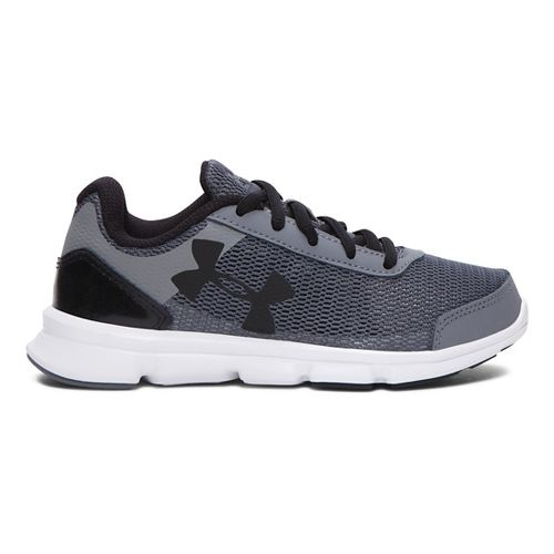 Kids Under Armour Speed Swift Running Shoe - Grey/Black 1Y