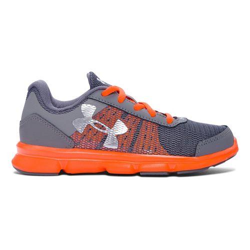 Kids Under Armour Speed Swift Running Shoe - Graphite/Orange 2Y