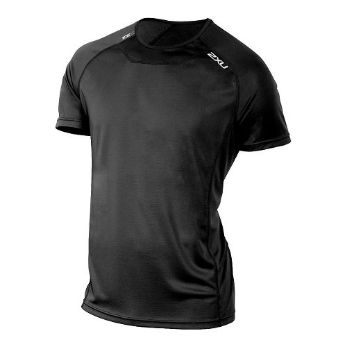 Mens 2XU ICE X Short Sleeve Technical Tops - Black/Black L