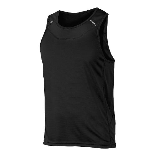 Mens 2XU ICE X Singlet Sleeveless & Tank Technical Tops - Black/Black M