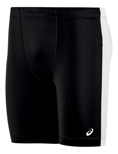 Mens ASICS Enduro Compression & Fitted Shorts - Black/White L