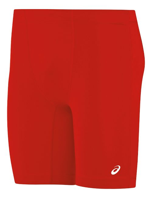 Mens ASICS Enduro Compression & Fitted Shorts - Red/Red L