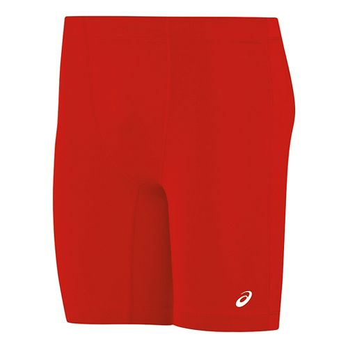 Mens ASICS Enduro Compression & Fitted Shorts - Red/Red XL