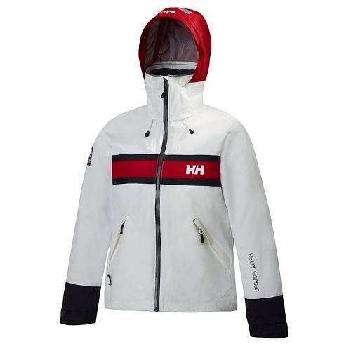 Womens Helly Hansen Salt Cold Weather Jackets - White XXL