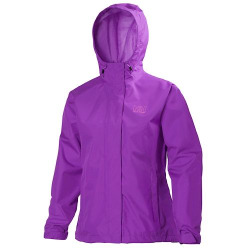 Womens Helly Hansen Seven J Rain Jackets - Sunburned Purple XS