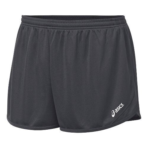 Mens ASICS Rival II 1/2 Split Lined Shorts - Steel Grey XL