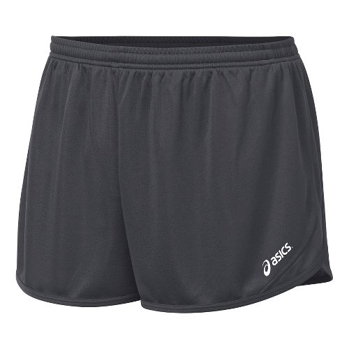 Mens ASICS Rival II 1/2 Split Lined Shorts - Steel Grey XXL