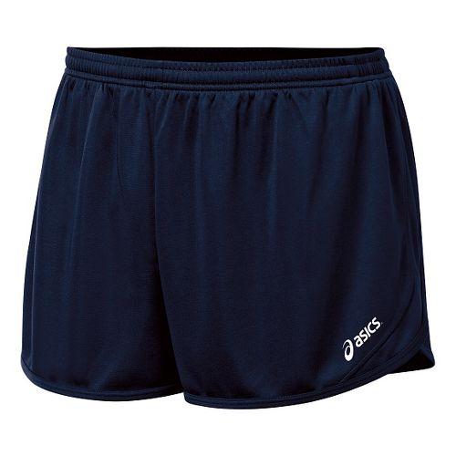 Mens ASICS Rival II 1/2 Split Lined Shorts - Navy L