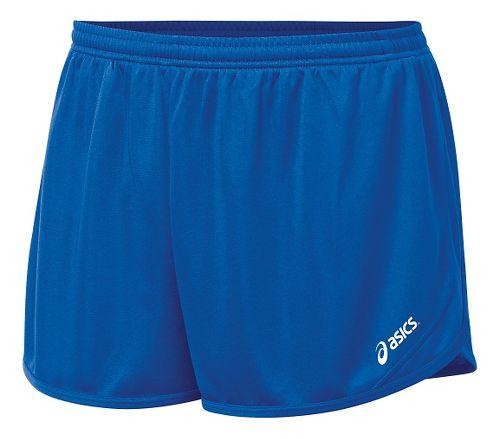 Mens ASICS Rival II 1/2 Split Lined Shorts - Royal L