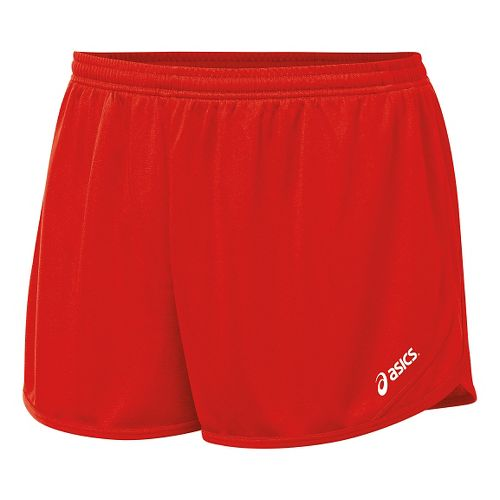 Mens ASICS Rival II 1/2 Split Lined Shorts - Red L