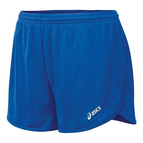 Womens ASICS Rival II 1/2 Split Unlined Shorts - Royal S