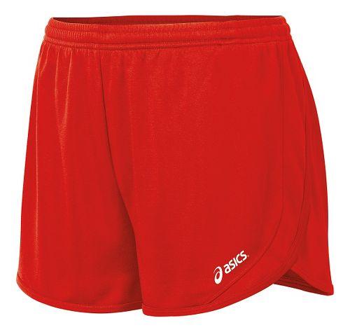 Womens ASICS Rival II 1/2 Split Unlined Shorts - Red L