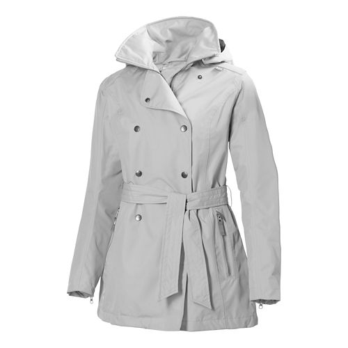 Womens Helly Hansen Wesley Trench Rain Jackets - Ash L