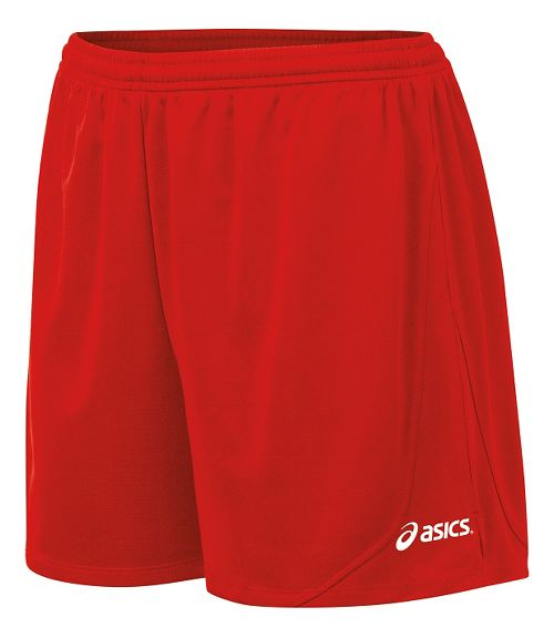 Womens ASICS Rival II Unlined Shorts - Red M