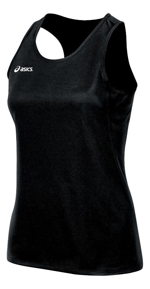 Womens ASICS Rival II Singlet Sleeveless & Tank Tops Technical Tops - Black M