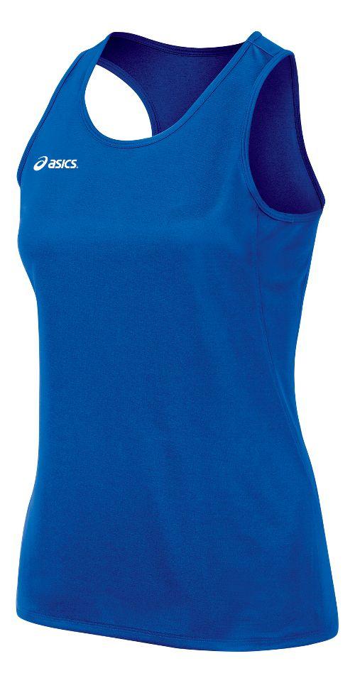 Womens ASICS Rival II Singlet Sleeveless & Tank Tops Technical Tops - Royal XL