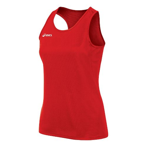 Womens ASICS Rival II Singlet Sleeveless & Tank Tops Technical Tops - Red M