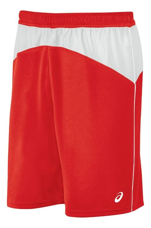 Mens ASICS X-Over Unlined Shorts - Red/White L