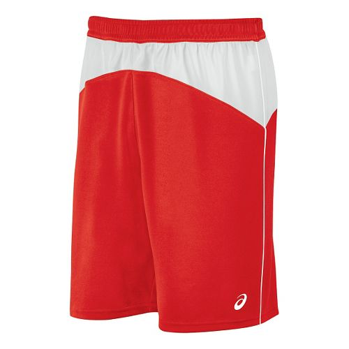 Mens ASICS X-Over Unlined Shorts - Red/White M