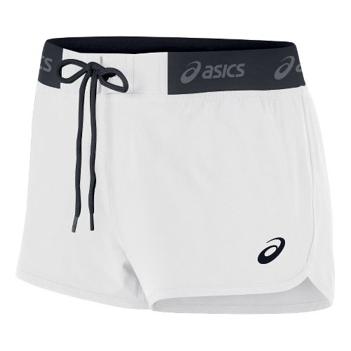 Womens ASICS Boardie Unlined Shorts - White M