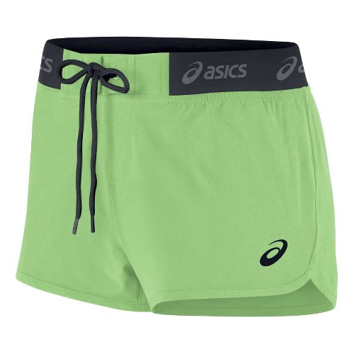 Womens ASICS Boardie Unlined Shorts - Lime S