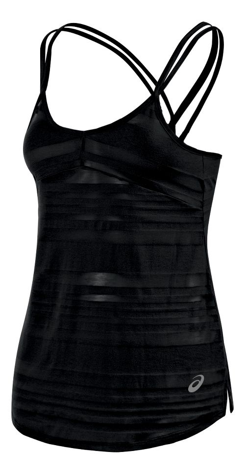 Womens ASICS Slub Sleeveless & Tank Technical Tops - Black L
