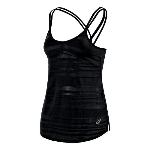 Womens ASICS Slub Sleeveless & Tank Technical Tops - Black XS