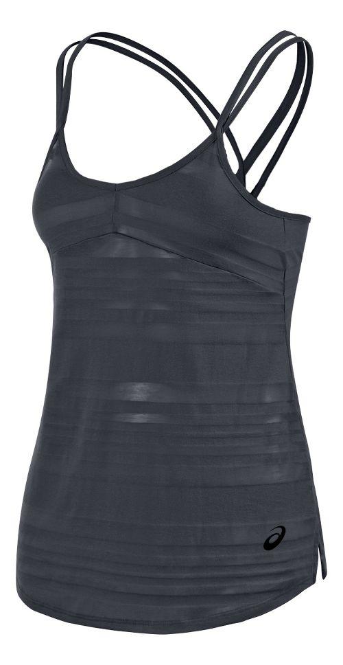 Womens ASICS Slub Sleeveless & Tank Technical Tops - Steel Grey L