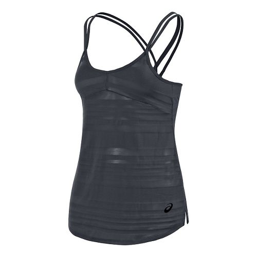 Womens ASICS Slub Sleeveless & Tank Technical Tops - Steel Grey L