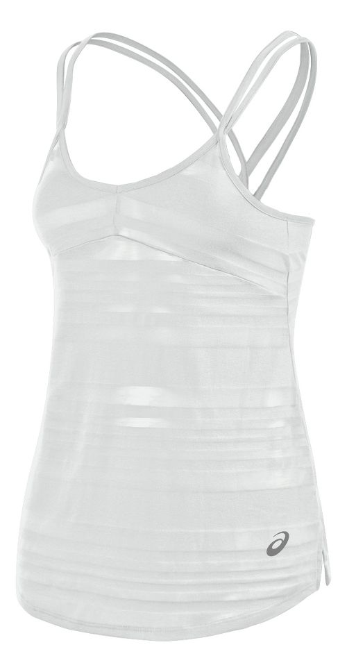 Womens ASICS Slub Sleeveless & Tank Technical Tops - White XS