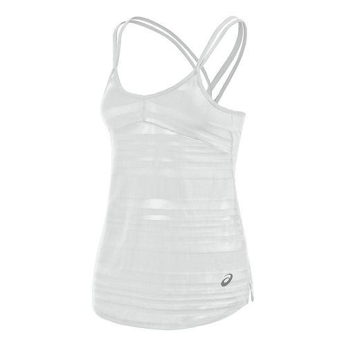 Womens ASICS Slub Sleeveless & Tank Technical Tops - White L