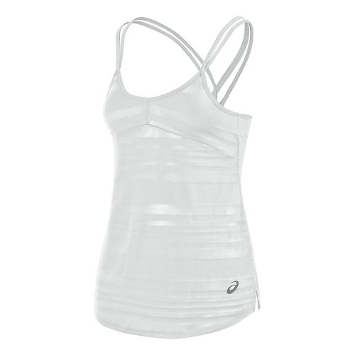 Womens ASICS Slub Sleeveless & Tank Technical Tops - White XS