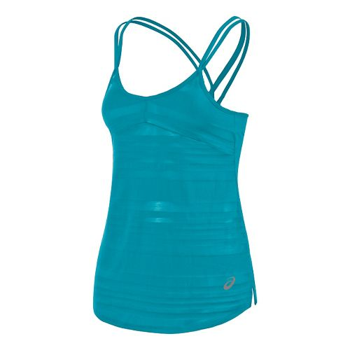 Womens ASICS Slub Sleeveless & Tank Technical Tops - Teal L