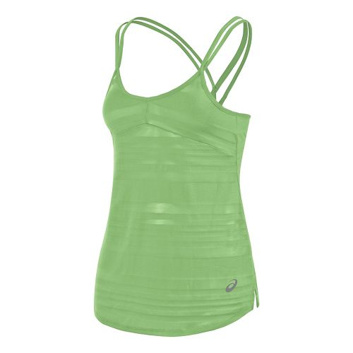 Womens ASICS Slub Sleeveless & Tank Technical Tops - Lime XL