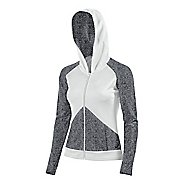 Womens ASICS Morgan Fullzip Hoodie & Sweatshirts Technical Tops - Graphite/White XS