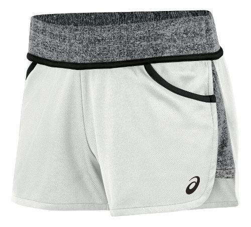 Womens ASICS Morgan Shorty Unlined Shorts - White/Black XXL