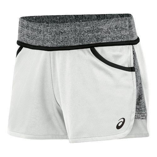 Womens ASICS Morgan Shorty Unlined Shorts - White/Black L