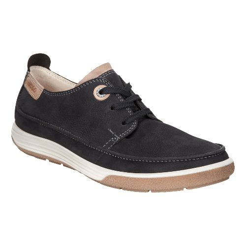 Womens Ecco Chase II Moc Tie Casual Shoe - Black/Whisky 41