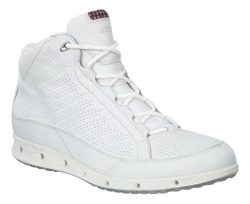 Womens Ecco Cool GTX High Top Walking Shoe - White/Black 40