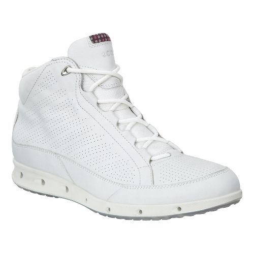 Womens Ecco Cool GTX High Top Walking Shoe - White/Black 40