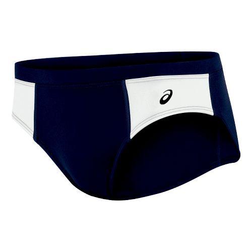Womens ASICS Chaser Brief Underwear Bottoms - Navy/White L