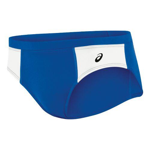Womens ASICS Chaser Brief Underwear Bottoms - Royal/White XXS