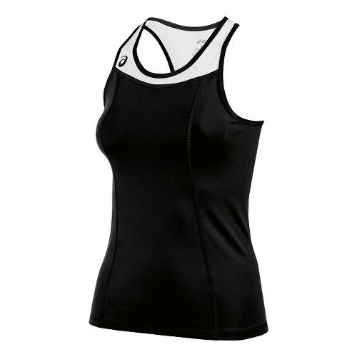 Womens ASICS Chaser Shimmel Sleeveless & Tank Technical Tops - Black/White S