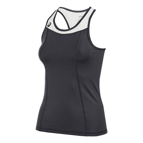 Womens ASICS Chaser Shimmel Sleeveless & Tank Technical Tops - Steel Grey/White S
