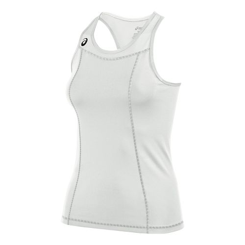 Womens ASICS Chaser Shimmel Sleeveless & Tank Technical Tops - White/White L
