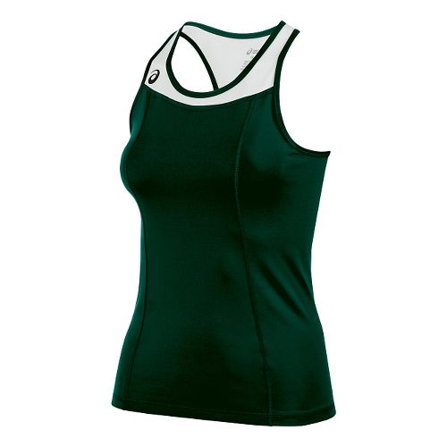 Womens ASICS Chaser Shimmel Sleeveless & Tank Technical Tops - Forest/White S