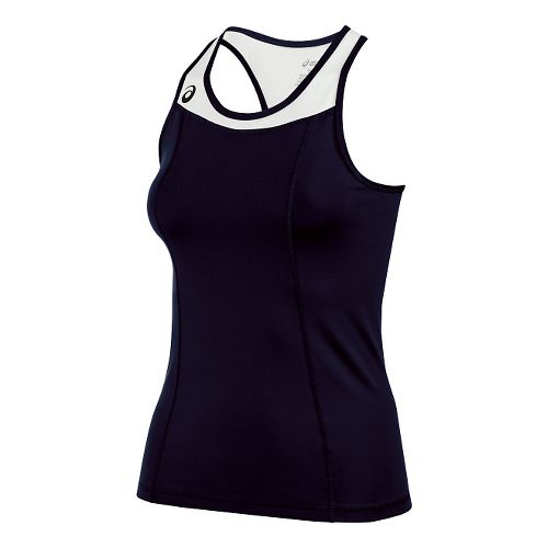Womens ASICS Chaser Shimmel Sleeveless & Tank Technical Tops - Navy/White L