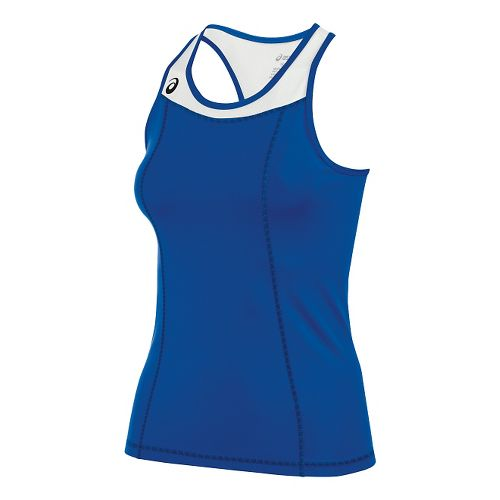 Womens ASICS Chaser Shimmel Sleeveless & Tank Technical Tops - Royal/White M